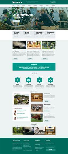 Memorials - Funeral & Cemeteries HTML5 Template #html5 #html5templates #psdtemplates #responsivetemplates #websitetemplates