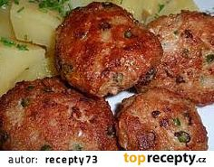 Karbanátky / sekaná s česnekovými výhonky recept - TopRecepty.cz Muffin, Food And Drink, Breakfast, Ethnic Recipes, Cooking, Morning Coffee, Muffins, Cupcakes
