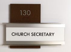 Fusion ADA Interior Room ID Sign Type H with updatable Insert done for First Christian Church.  #signage #wayfinding