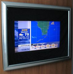 """TV InvisaScreen Our Hidden Flat Panel TV hardware is a custom powder coated aluminum insert that accommodates up to a 47"""" diagonal flat scr..."""