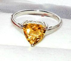 2.25ctw  Citrine Solitare Ring Trillion cut stone  size 8  http://stores.ebay.com/JEWELRY-AND-GIFTS-BY-ALICE-AND-ANN