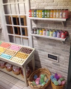 Miniature Toiletries Shop -some of these ideas would be cute for a bathroom.