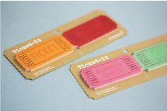 Sticky Note [ 4 Types of Tickets ] / Notepad / Memopad by DubuDumo on Etsy https://www.etsy.com/listing/171330010/sticky-note-4-types-of-tickets-notepad