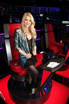 @Shakira Mebarak during @The Voice NBC knock-outs. Styled by #RandM.