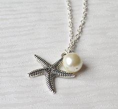 Beach wedding Bridesmaid Necklace Starfish by LaurinWedding, $12.00