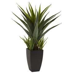 Nearly Natural Nearly Natural Agave Desk Top Plant in Decorative Vase