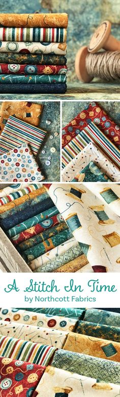 Sewing Themed Fabric Fat Quarter street Cotton Craft Quilting by Debra Gabel