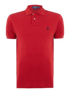 4c654fdb Polo Ralph Lauren Slim Fit Basic Mesh Polo - Red Mens Polo Ralph Lauren  Polo Shirts