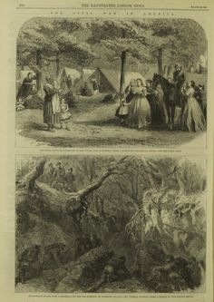 American Civil War depicted in the Illustrated London News
