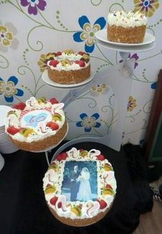 Whipped cream cakes for a 60 years wedding