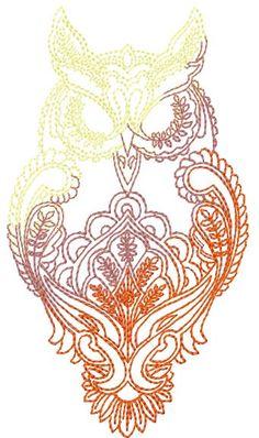 Owl free machine embroidery design