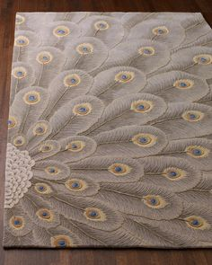 """""""Peacock Bursts"""" Rug - Horchow"""