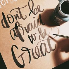don't be afraid // #handwrittenbycassi #letteritoctober #handlettering #brushlettering #moderncalligraphy #calligraphy #typography #thedailytype #thatsdarling #shereadstruth #hwbc