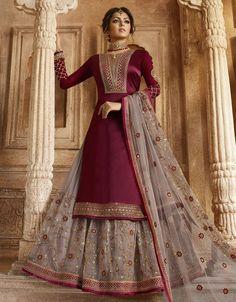 Pakistani Bridal Dresses, Indian Dresses, Indian Outfits, Lehenga Style, Lehenga Choli, Net Lehenga, Lehenga Suit, Sharara, Patiala