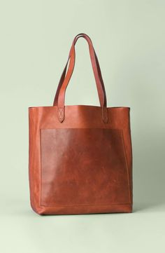 80b5624cfcab Madewell Medium Leather Transport Tote