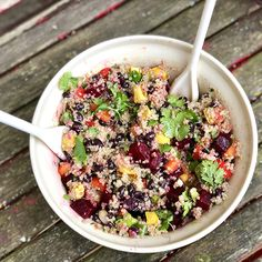 How to Eat the Beet from Root to Leaf — Just Beet It Vegetable Salad Recipes, Beet Recipes, Healthy Recipes, Easy Recipes, Feta Salad, Quinoa Salad, Cheese Salad, Avocado Salad, Quinoa Vegan