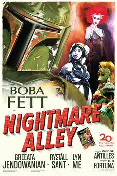 Fett Noir Series 1 Nightmare Alley 12x18 by GraphicLanguage