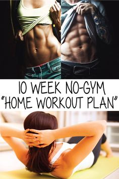 If you want to lose weight, gain muscle or get fit then this 10 week no-gym home workout plan is something perfect for you.
