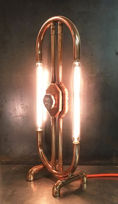 For sale is this beautiful contemporary industrial style copper lamp, hand made in Devon, England which would give a stylish edge to any home or