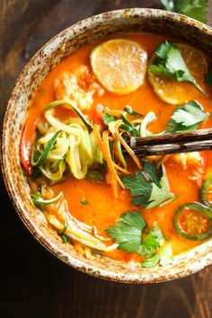 Shrimp and Zoodle Red Curry Bowl | 18 Easy Whole30 Dinners That Are Actually Delicious