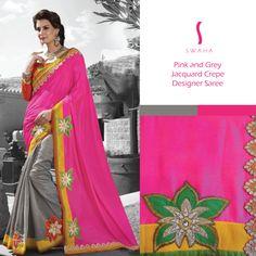Love this unique combination? Now available at Swaha. #SwahaSaree
