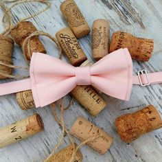 Blush pink or light pink elegant pretied bowtie sewn from soft nude cotton is good accessory for all: groomsmen, groom, men and baby boy.  You can we're it for wedding, b-day or another celebration.  https://www.etsy.com/listing/553147960/elegant-light-pink-pretied-bow-tie?ref=shop_home_active_6