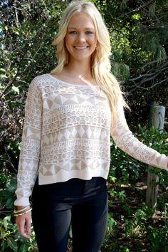 Gold Stitched Sweater Top #fallfashion