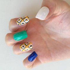 squares manicure, accent nail squares, MARS the salon, nail art tutorial   NAILPRO