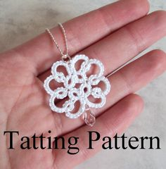 PDF Tatting Pattern 'Christina' Pendant by TataniaRosa on Etsy