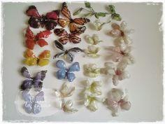 Lo Dico, lo Faccio : Bottiglia decorata con fiori e farfalle in Sospeso Trasparente