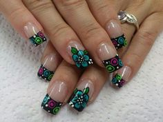 Cute Nail Designs For Spring – Your Beautiful Nails Fabulous Nails, Perfect Nails, Gorgeous Nails, Pretty Nails, Simple Nail Art Designs, Nail Designs Spring, Toe Nail Designs, Silver Nail Art, Wedding Nails Design