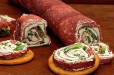 Salami and Cream Cheese Roll-ups this could be any lunch meat and vegie on any cracker or bread. Salami and Cream Cheese Roll-ups this could be any lunch meat and vegie on any cracker or bread. Finger Food Appetizers, Yummy Appetizers, Appetizers For Party, Appetizer Recipes, Snack Recipes, Cooking Recipes, Finger Foods, Cheese Appetizers, Salami Appetizer