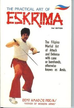 The Practical Art of ESKRIMA (The Filipino Martial Art of Attack and Defense with cane or barehands otherwise know as Arnis) by Remy Presas, http://www.amazon.com/dp/9710856677/ref=cm_sw_r_pi_dp_Jw5Rtb0FARW43/176-6100769-8604652