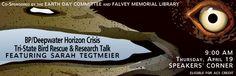 2012 Earth Day events at Villanova University include Tri-State Bird Rescue & BP/Deepwater Horizon Crisis research talk.