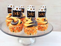 ハロウインのカップケーキ。簡単にできるレシピは、美味しいだけじゃなく、見た目の可愛い。  #cupcakes #カップケーキ#ハロウイン#レシピ#スイーツ#食べ物#halloween