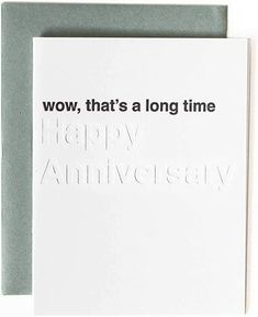 """Looking for an anniversary card for your parent? Mikspress has modern greeting cards so that you can stand out as """"that person"""" who gives great cards. This card is great for your parent's anniversary. Maybe your good friend has an anniversary coming up and they have been married a long time. Cards are made in the USA. By supporting Mikspress you are supporting a minority and women owned business. FREE SHIPPING when when you buy on Amazon. Some are eligible for Prime as well. Anniversary Card For Parents, 4 Year Anniversary, Wedding Anniversary Cards, Letterpress Machine, Letterpress Printing, Manifestation Journal, Affirmation Cards, Funny Happy, Unique Cards"""
