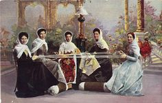 Postcard - Georgia 115 - Types du Caucase - Ladies weaving | Flickr - Photo Sharing!