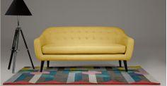 Ritchie, un canapé 3 places, jaune ocre