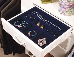 Jewelry drawer inserts