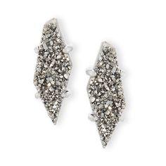 Kendra Scott Brook Druzy Post Earrings ($60) ❤ liked on Polyvore featuring jewelry, earrings, kendra scott jewelry, post back earrings, drusy jewelry, post earrings and drusy earrings