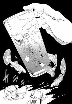 Hi my name is Maya and I love anime and manga! You deserve it! Manhwa Manga, Manga Anime, Anime Art, Ghost Boy, Inked Men, Thing 1, Tumblr, Sketch Painting, Manga Characters