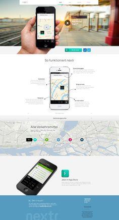 Dribbble - nextr_homepage_realpixel.jpg by Martin Oberhäuser