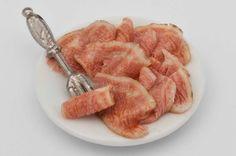 sliced baked ham plate miniature by amanspeak on Etsy