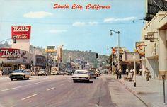 Vintage Ventura Blvd Laurel Canyon Studio City Photo Print of Postcard Studio City California, Vintage California, Southern California, Hotel California, Ventura Boulevard, Las Vegas, San Fernando Valley, Laurel Canyon, Los Angeles Area