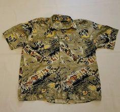 Men's Munsingwear Short Sleeve Hawaiian Shirt Size Medium 100% Viscose Rayon #9 in Clothing, Shoes & Accessories, Men's Clothing, Casual Shirts | eBay