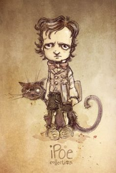"""Little Ed"" - Sketch by David Garcia for iPoe Collection.  #Poe #EdgarAllanPoe #Boceto #Sketch"