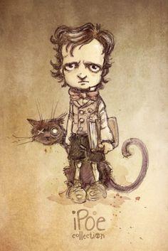 """Little Ed"" - Sketch by David Garcia for iPoe Collection.  #Poe #EdgarAllanPoe #Boceto #Sketch"
