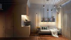In the box 15м2 - 3D-проект компактного пространства | PINWIN - конкурсы для архитекторов, дизайнеров, декораторов