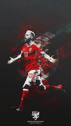 Aaron Ramsey. Wales. Máx. Asistente ( 4 ) con Hazard. EURO 2016