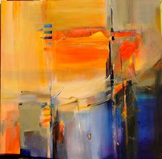California Sunset by Radha Chatterjee Painting Competition, Sunset Painting Acrylic, Art Painting, Abstract Artists, Art Show, Abstract Painting, Painting, Daily Art, Abstract